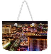 Las Vegas Strip North View Night 2 To 1 Ratio Weekender Tote Bag