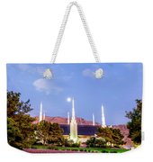 Las Vegas Temple Moon Weekender Tote Bag