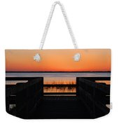 Last Glow Over The Water Weekender Tote Bag