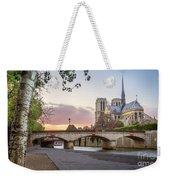 Last Light On Notre Dame De Paris Weekender Tote Bag