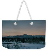Last Light On Pagosa Peak Weekender Tote Bag
