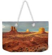 Last Light Over Monument Valley Weekender Tote Bag