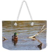 Last Mallard Of Autumn         October       Indiana    Weekender Tote Bag