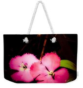 Last Of The Pink Dianthus Flowers Weekender Tote Bag