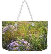 Last Rays Of Sun Light Wildflowers In Moraine Hills Sp Weekender Tote Bag