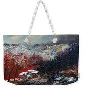 Last Snow Weekender Tote Bag