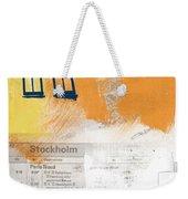 Last Train To Stockholm- Art By Linda Woods Weekender Tote Bag