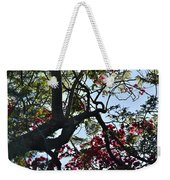 Late Afternoon Tree Silhouette With Bougainvilleas I Weekender Tote Bag