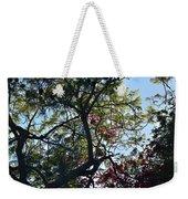 Late Afternoon Tree Silhouette With Bougainvileas II Weekender Tote Bag
