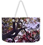 Late Afternoon Tree Silhouette With Bougainvilleas IIi Weekender Tote Bag