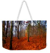 Late Fall In The Woods Weekender Tote Bag
