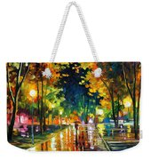 Late Night - Palette Knife Oil Painting On Canvas By Leonid Afremov Weekender Tote Bag