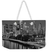 Late Night Philly Grayscale Weekender Tote Bag