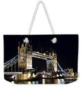 Late Night Tower Bridge Weekender Tote Bag by Elena Elisseeva