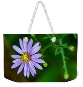 Late Purple Aster Weekender Tote Bag