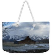 Late Snow On South Moulton Barn Weekender Tote Bag