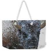 Early Spring Late Snow Buffalo Weekender Tote Bag