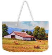 Late Summer Hay Weekender Tote Bag