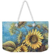 Late Sunflowers  Weekender Tote Bag