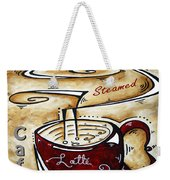 Latte Original Painting Madart Weekender Tote Bag