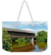 Lattice Covered Bridge Weekender Tote Bag