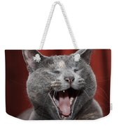 Laughing Kitty Weekender Tote Bag