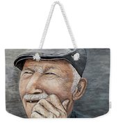 Laughing Old Man Weekender Tote Bag