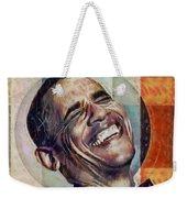 Laughing President Obama V2 Weekender Tote Bag