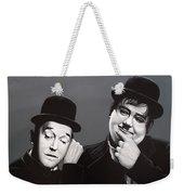 Laurel And Hardy Weekender Tote Bag by Paul Meijering