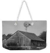 Laurel Road Barn In Black And White Weekender Tote Bag