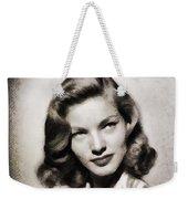 Lauren Bacall, Vintage Actress Weekender Tote Bag