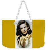 Lauren Bacall - Vintage Painting Weekender Tote Bag