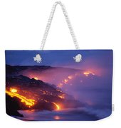 Lava At Twilight Weekender Tote Bag
