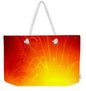 Lava Explodes Into Ocean Weekender Tote Bag