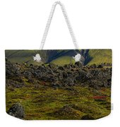 Lava Field And Mountain - Iceland Weekender Tote Bag