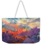 Lava Flow Abstract Weekender Tote Bag