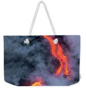 Lava Flowing Into The Ocean 20 Weekender Tote Bag by Jim Thompson
