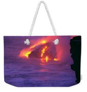 Lava Meets Ocean Action Weekender Tote Bag