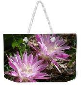 Lavendar Cactus Flowers Weekender Tote Bag