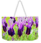 Lavender Abstract Weekender Tote Bag