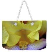 Lavender And Yellow Iris Heart Weekender Tote Bag