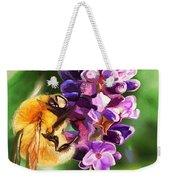 Lavender Bee Weekender Tote Bag