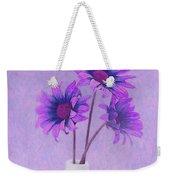 Lavender Chrysanthemum Still Life Weekender Tote Bag
