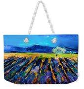 Lavender Field Weekender Tote Bag