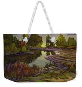 Lavender Field, Langley B C Weekender Tote Bag