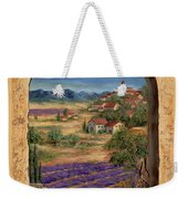 Lavender Fields And Village Of Provence Weekender Tote Bag