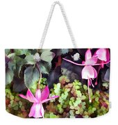 Lavender Fuchsias Just Hanging Around The Garden Weekender Tote Bag