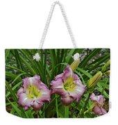 Lavender Lily Triad Weekender Tote Bag