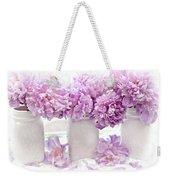 Lavender Peonies White Mason Jars - Romantic Shabby Chic Lavender Purple Peonies Mason Jars Weekender Tote Bag