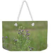 Lavender Purple Verbena Wildflowers  Weekender Tote Bag